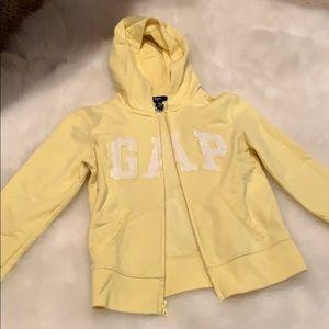GAP Zip sequins hoodie sz8/9